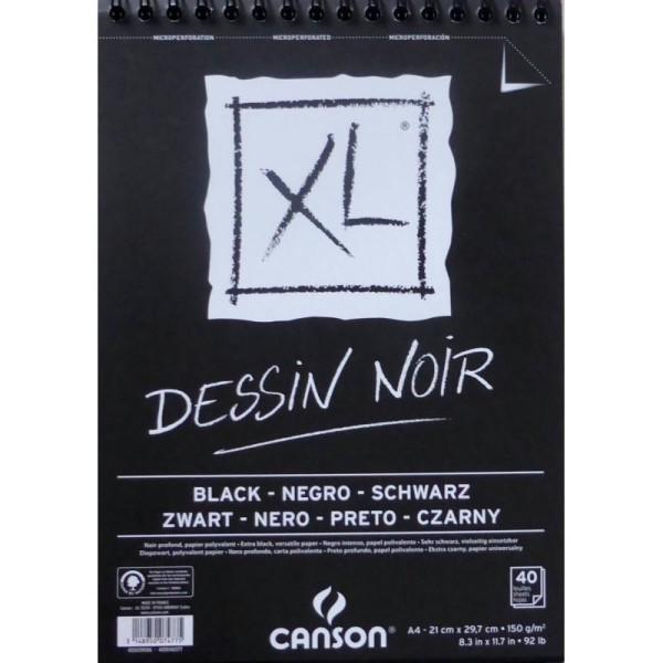 Bloc Canson XL - Dessin Noir Papiers:40F / 29,7x42 A3 - Photo n°1