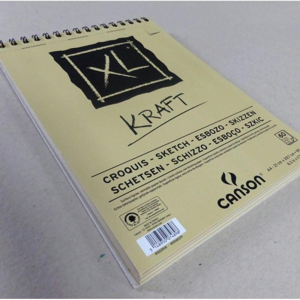 Bloc Canson - Kraft Papiers:60F / 29.7X42 A3 - Photo n°2