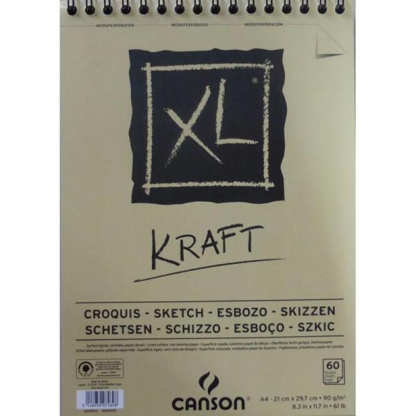 Bloc Canson - Kraft Papiers:60F / 29.7X42 A3 - Photo n°1