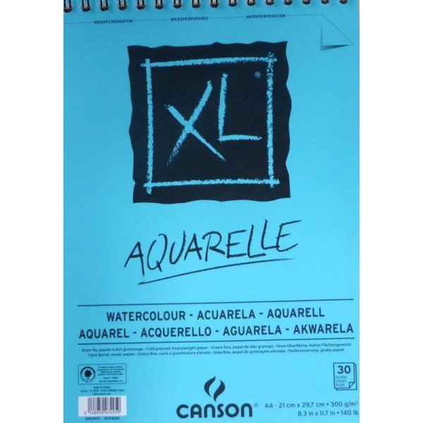 Bloc Canson XL - Aquarelle Papiers:30F / 14,8x21 A5 - Photo n°1