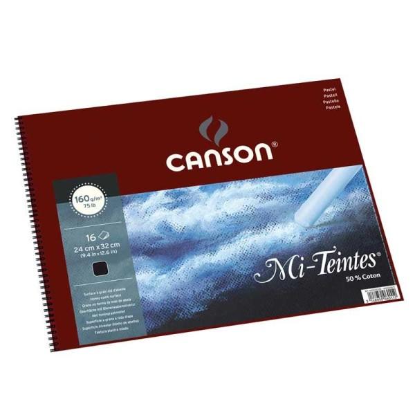 Album spiralés mi-teintes Canson noir Papiers:16F / 32x41 - Photo n°1