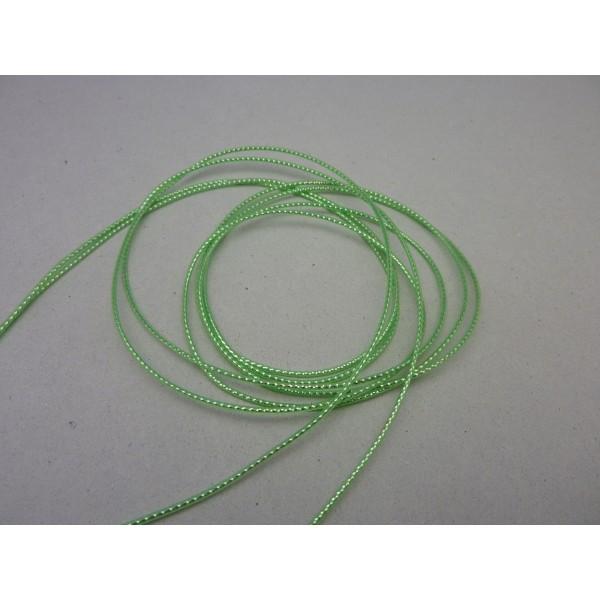 Fil Scoubidou, Cordon De Plastique Vert Reflet Brillant 1,2 Mm - Photo n°2