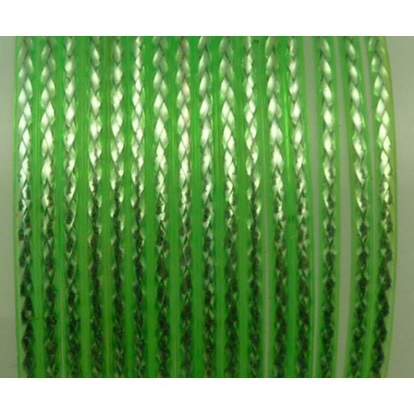 Fil Scoubidou, Cordon De Plastique Vert Reflet Brillant 1,2 Mm - Photo n°1