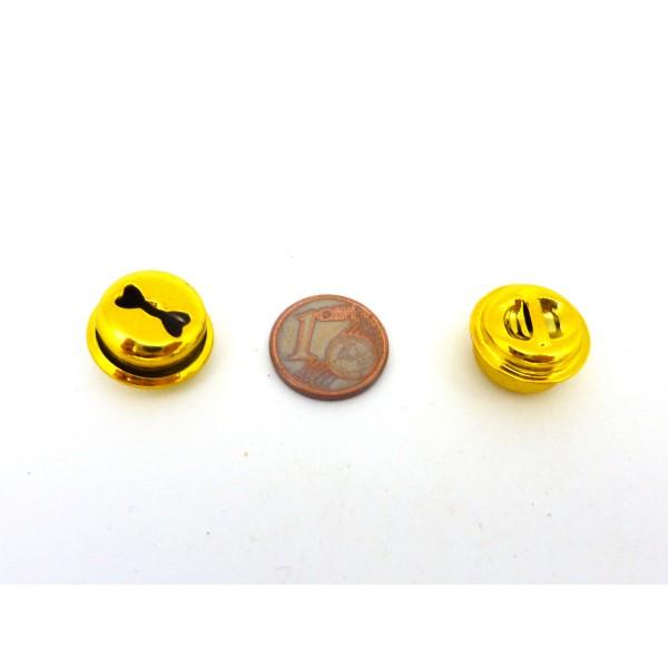 2 Grelots Soupière 15,8mm En Métal Peint Jaune Brillant - Photo n°4