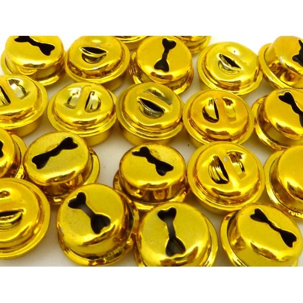 2 Grelots Soupière 15,8mm En Métal Peint Jaune Brillant - Photo n°1