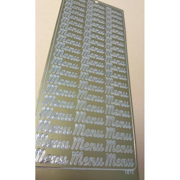 Stickers Menu en or - Photo n°1