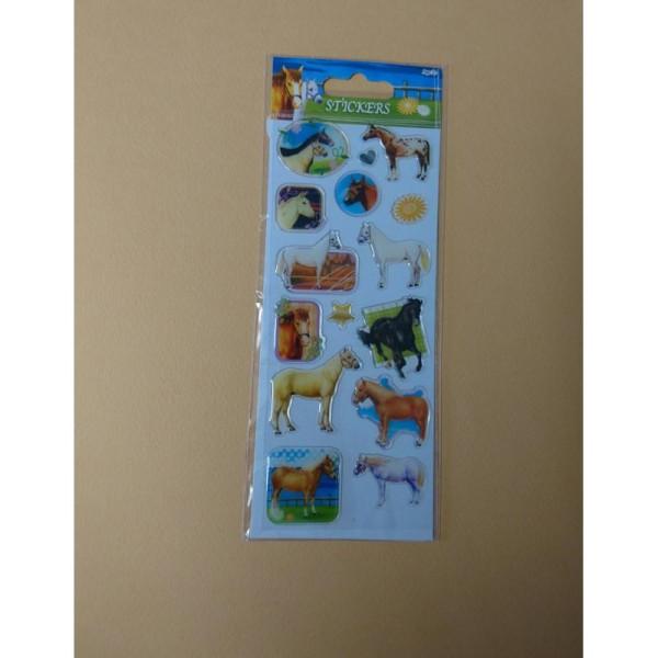 Stickers sur le thème des chevaux - Photo n°1