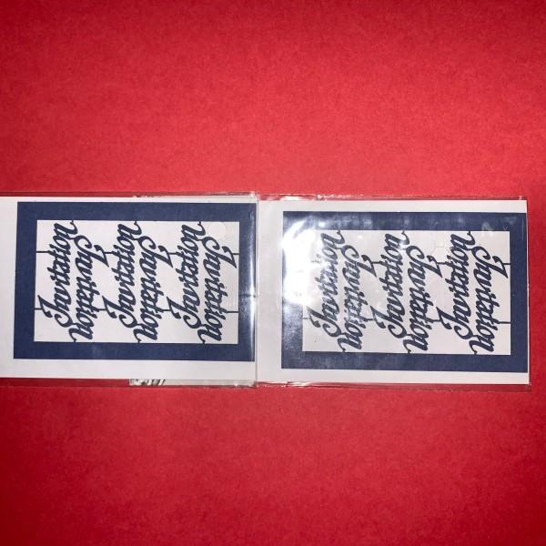 Pièce découpée au laser Invitation bleu - Photo n°1