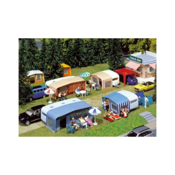 Kit Caravanes Camping Echelle Ho Faller