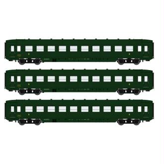 Coffret 3 voitures DEV AO Courtes Ep, IIIB  - Echelle HO - REE Modeles VB-129