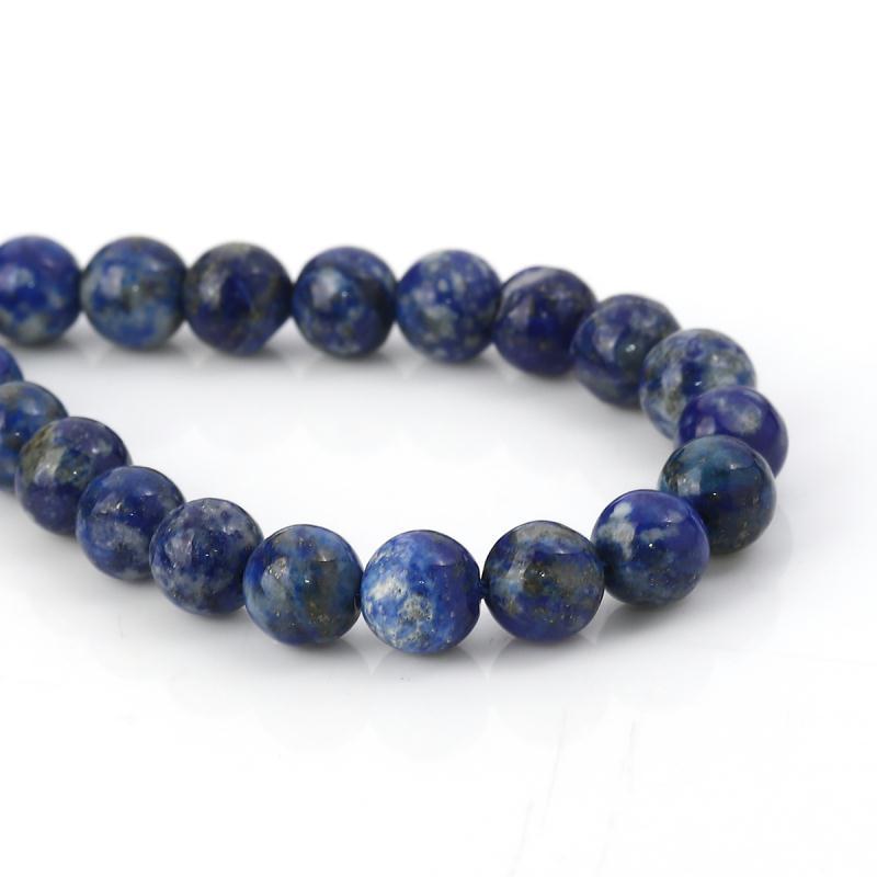 "Pretty 10 mm bleu foncé Galaxy Sitara Sun Grès Ronde Pierres Précieuses Perles Collier 18/"""