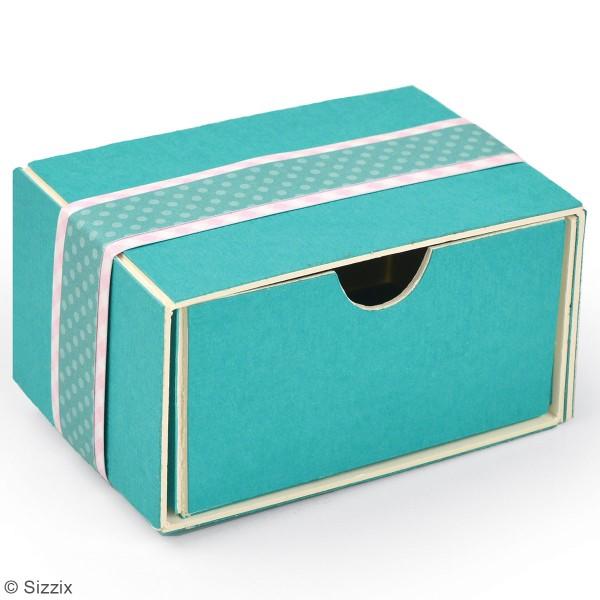 Matrice Sizzix Bigz - Gabarit Petite boîte tiroir - 7,6 x 5,4 x 3,8 cm - Photo n°2