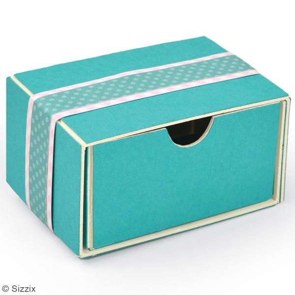 Matrice Sizzix Bigz - Gabarit Petite boîte tiroir - 7,6 x 5,4 x 3,8 cm - Photo n°3