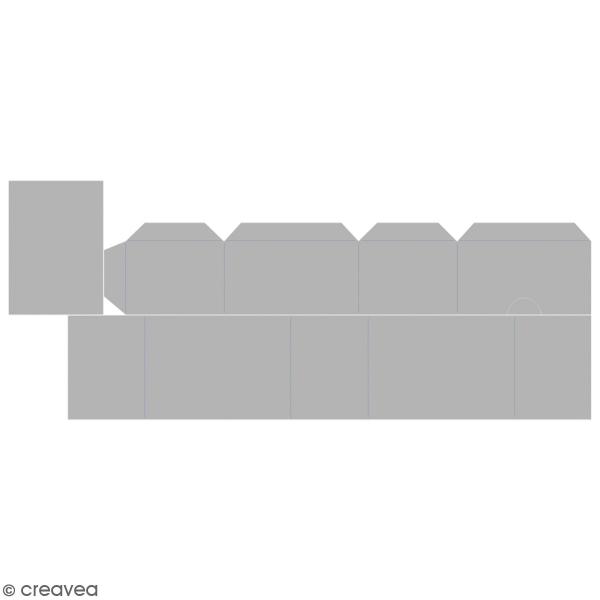 Matrice Sizzix Bigz - Gabarit Petite boîte tiroir - 7,6 x 5,4 x 3,8 cm - Photo n°1