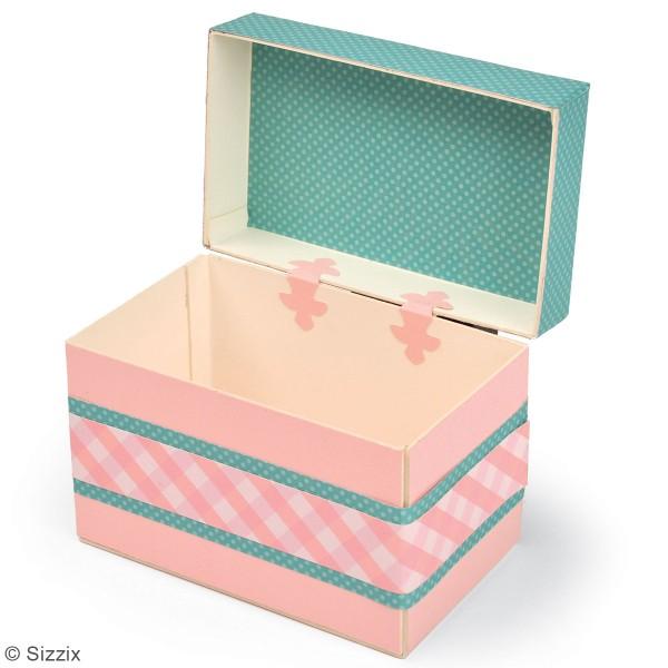 Matrice Sizzix Bigz - Gabarit Boîte à trésors - 13,3 x 8,2 x 10,4 cm - Photo n°2