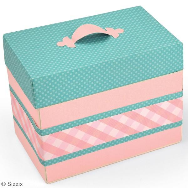 Matrice Sizzix Bigz - Gabarit Boîte à trésors - 13,3 x 8,2 x 10,4 cm - Photo n°3