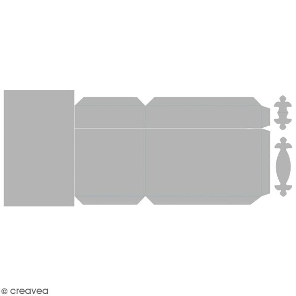 Matrice Sizzix Bigz - Gabarit Boîte à trésors - 13,3 x 8,2 x 10,4 cm - Photo n°1