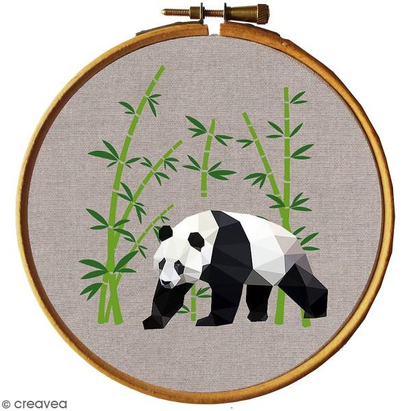 Kit broderie - Panda géométrique - Photo n°1