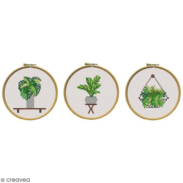 Kit broderie - Plantes - 3 modèles au choix - Photo n°1