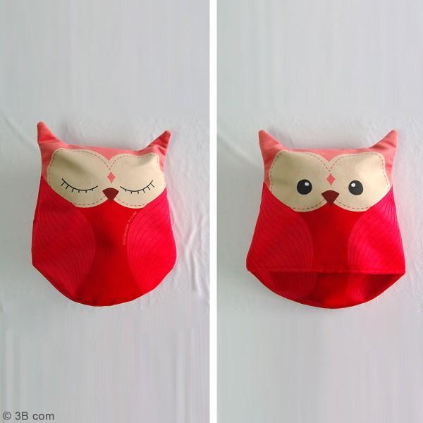 Kit Couture Peluche Lilou Le Hibou Rose 27 X 29 Cm