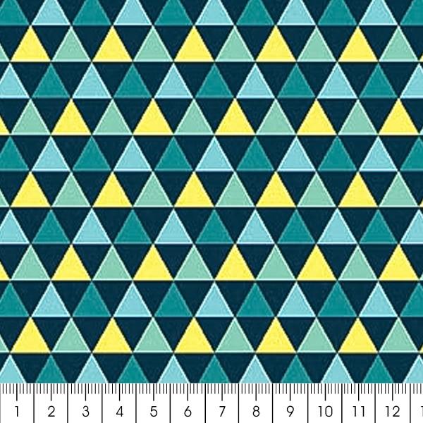 Grand coupon de tissu coton microfibre - Collection Amazonie - Grands triangles - 300 x 160 cm - Photo n°2