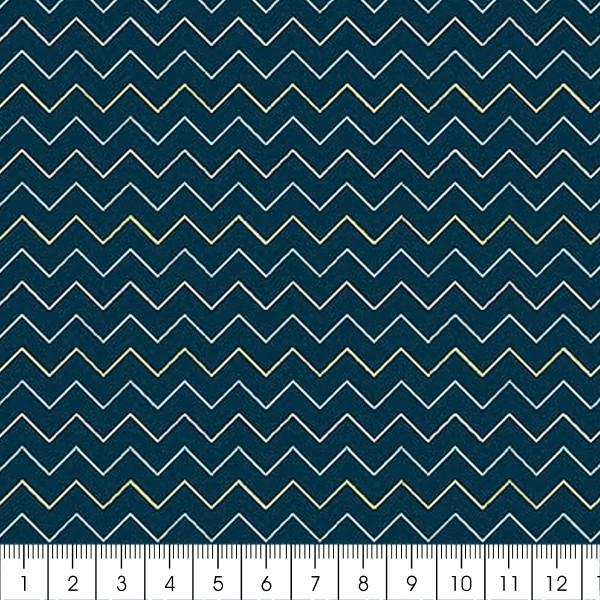 Grand coupon de tissu coton microfibre - Collection Amazonie - Chevrons - 300 x 160 cm - Photo n°2