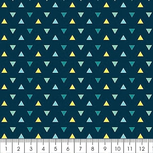 Grand coupon de tissu coton microfibre - Collection Amazonie - Triangles - 300 x 160 cm - Photo n°2