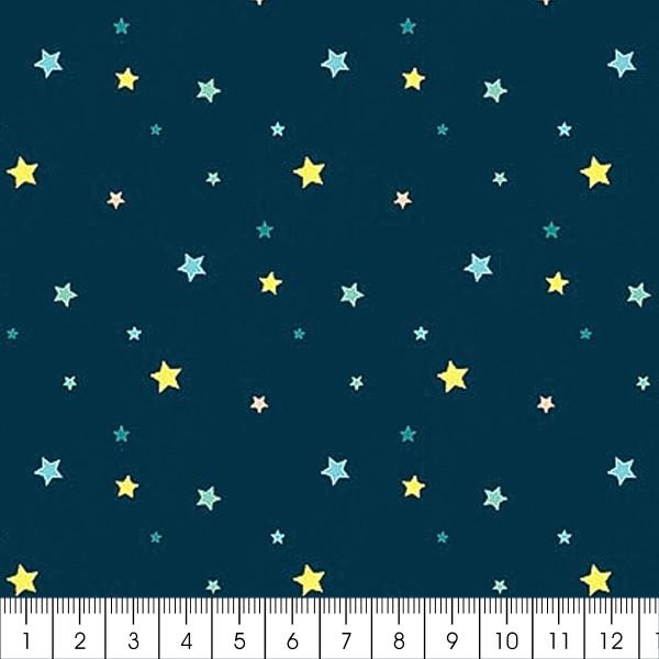 Grand coupon de tissu coton microfibre - Collection Amazonie - Etoiles - 300 x 160 cm - Photo n°2