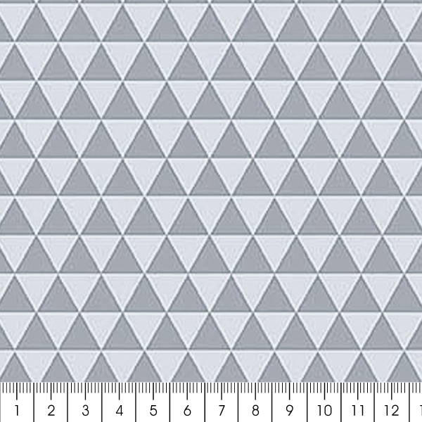 Grand coupon de tissu coton microfibre - Collection Menphis - Grands triangles - 300 x 160 cm - Photo n°1