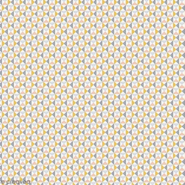 Grand coupon de tissu coton microfibre - Collection Menphis - Carreaux - 300 x 160 cm - Photo n°1