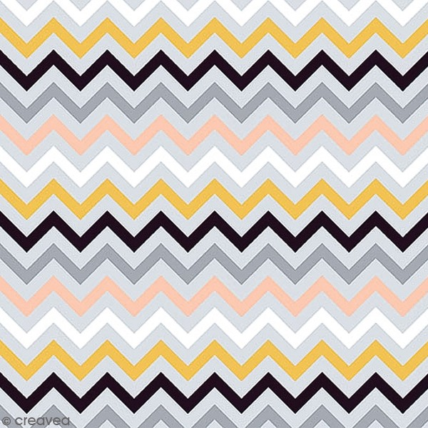 Grand coupon de tissu coton microfibre - Collection Menphis - Grands chevrons - 300 x 160 cm - Photo n°1