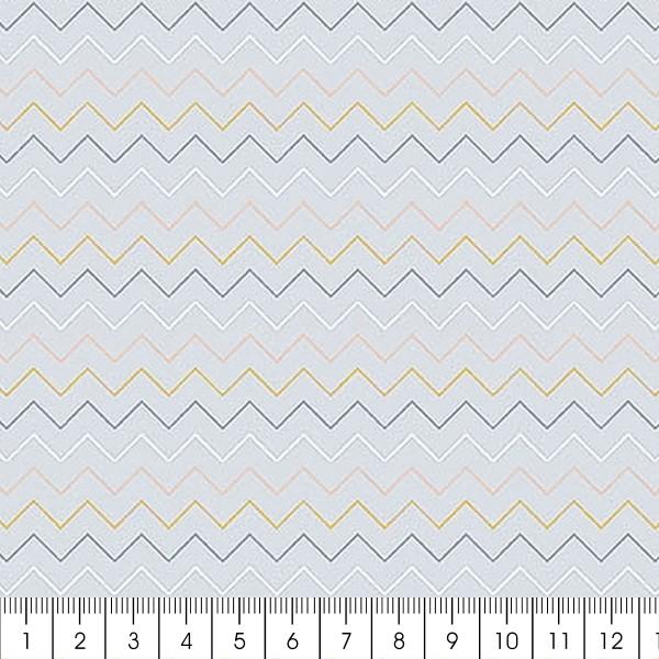 Grand coupon de tissu coton microfibre - Collection Menphis - Chevrons - 300 x 160 cm - Photo n°2