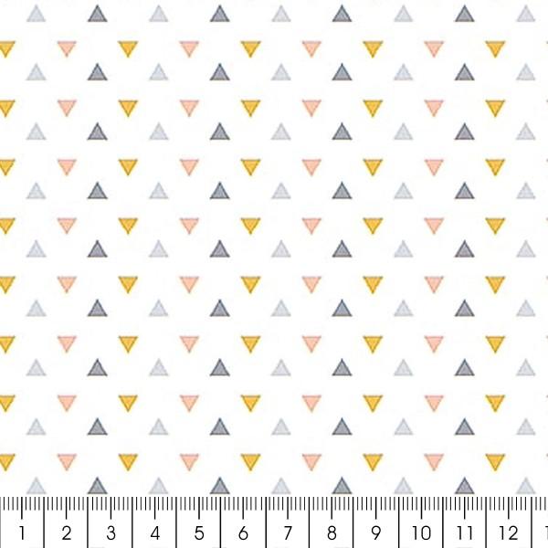 Grand coupon de tissu coton microfibre - Collection Menphis - Triangles - 300 x 160 cm - Photo n°2
