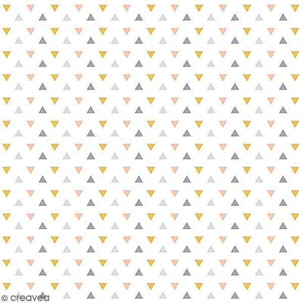 Grand coupon de tissu coton microfibre - Collection Menphis - Triangles - 300 x 160 cm - Photo n°1