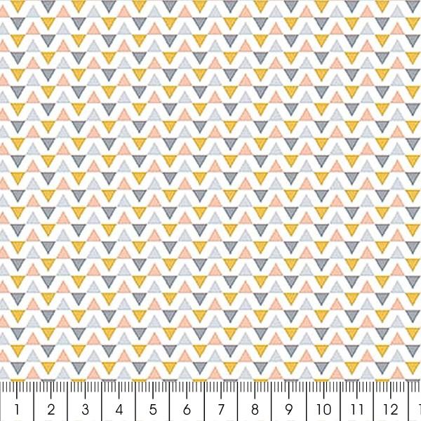 Grand coupon de tissu coton microfibre - Collection Menphis - Guirlande de triangles - 300 x 160 cm - Photo n°2