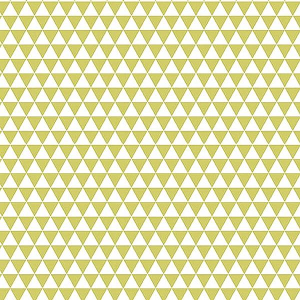 Grand coupon de tissu coton microfibre - Motif Triangle - Vert - 300 x 160 cm - Photo n°1