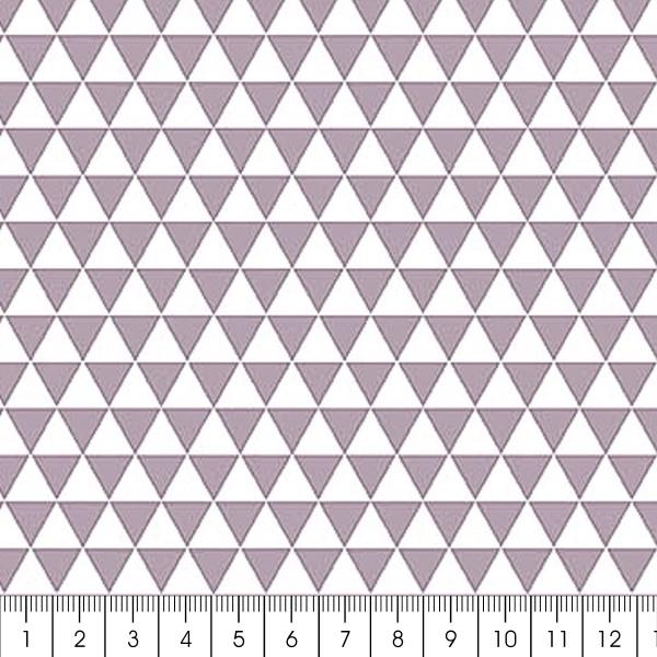 Grand coupon de tissu coton microfibre - Motif Triangle - Gris - 300 x 160 cm - Photo n°2