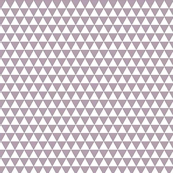 Grand coupon de tissu coton microfibre - Motif Triangle - Gris - 300 x 160 cm - Photo n°1
