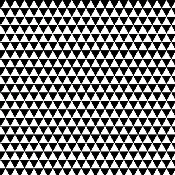Grand coupon de tissu coton microfibre - Motif Triangle - Noir - 300 x 160 cm - Photo n°1