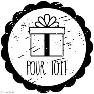 Tampon bois rond - Cadeau pour toi - 2,8 cm