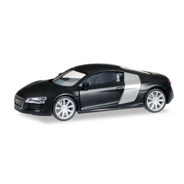 Audi R8 Noir Mat Avec Jantes Chromes Echelle Ho