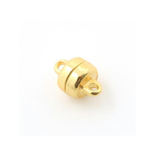 Fermoir magnétique métal rond 6,8xtr5,3 mm doré - Photo n°1