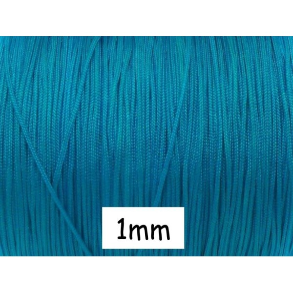 10m Fil De Jade 1mm Bleu Turquoise - Idéal Pour Bracelet Wrap - Photo n°1