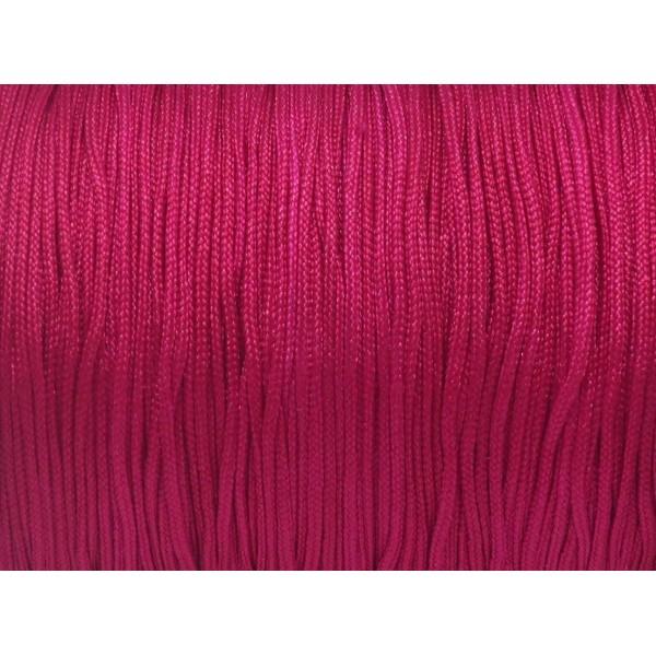 10m Fil De Jade 1mm Couleur Rose Fuchsia - Idéal Noeud Coulissant - Wrap - Shamballa - Photo n°2