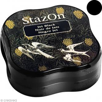Encre permanente StazOn - Noir de jais - encreur de 5,8 x 5,8 cm