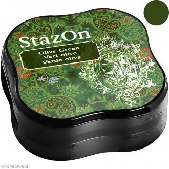 Encre permanente StazOn - Vert olive - encreur de 5,8 x 5,8 cm