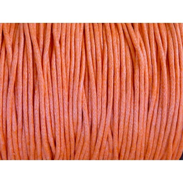 Lacet rond et épais coton 3,5mm Orange