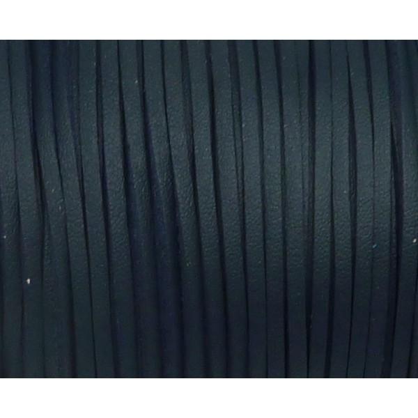 3m Lanière Cuir Synthétique De Couleur Bleu Marine 2,5mm - Photo n°3