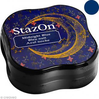 Encre permanente StazOn - Bleu nuit - encreur de 5,8 x 5,8 cm