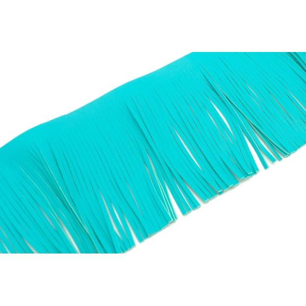 R-20cm De Galon Frange Bleu Vert Turquoise En Simili Cuir Pour Customisation, Pompon Hauteur Frange - Photo n°1